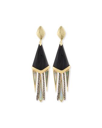Dangling Liquid Metal Clip-On Earrings