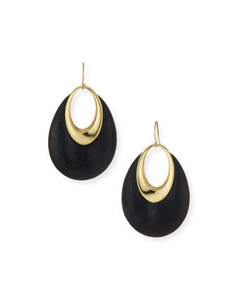 Orbital Dangling Hoop Wire Earrings