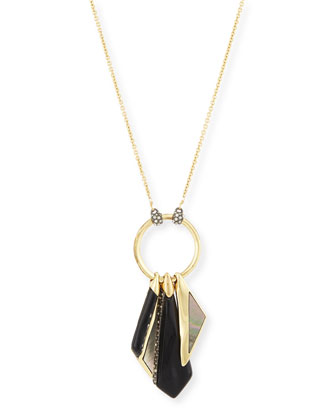 Inlaid Mother-of-Pearl Fringe Necklace, 32