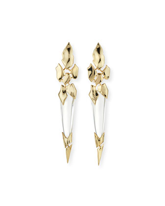 Fractured Spear Crystal Clip-On Earrings