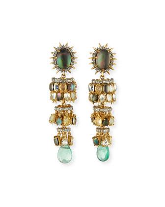 Tiered Starburst Chandelier Earrings