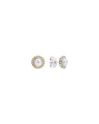 6mm 18K Gold Luna Pearl Earrings