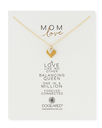Mom Love Heart Pendant Necklace