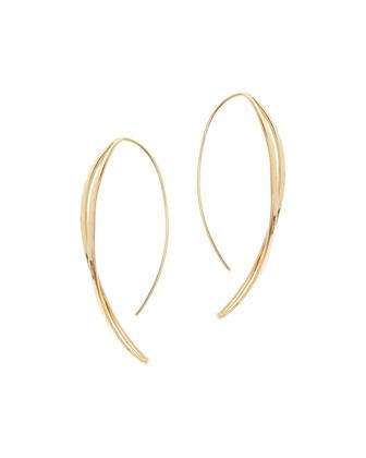 Twisted Thread-Through Hoop Earrings