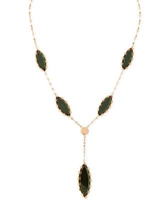 Mega Midnight Marquise Lariat Necklace