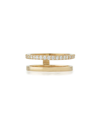 Electric Diamond Double-Band Ring, Size 8