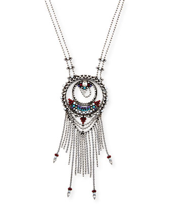 Camryn Chain Fringe Pendant Necklace