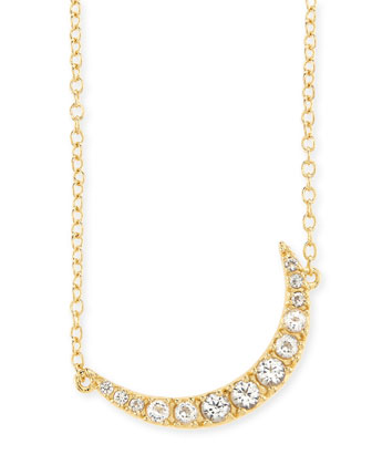 Apollo Crystal Crescent Necklace