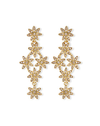 Pavé Swarovski® Flower Drop Earrings