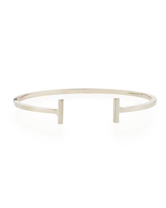 Mini Demi Bar Cuff Bracelet, Silver