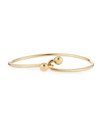 Interlocking Bauble Cuff Bracelet
