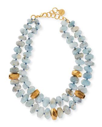 Aquamarine Double-Strand Necklace