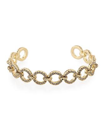 Eternal Crystal Link Cuff Bracelet