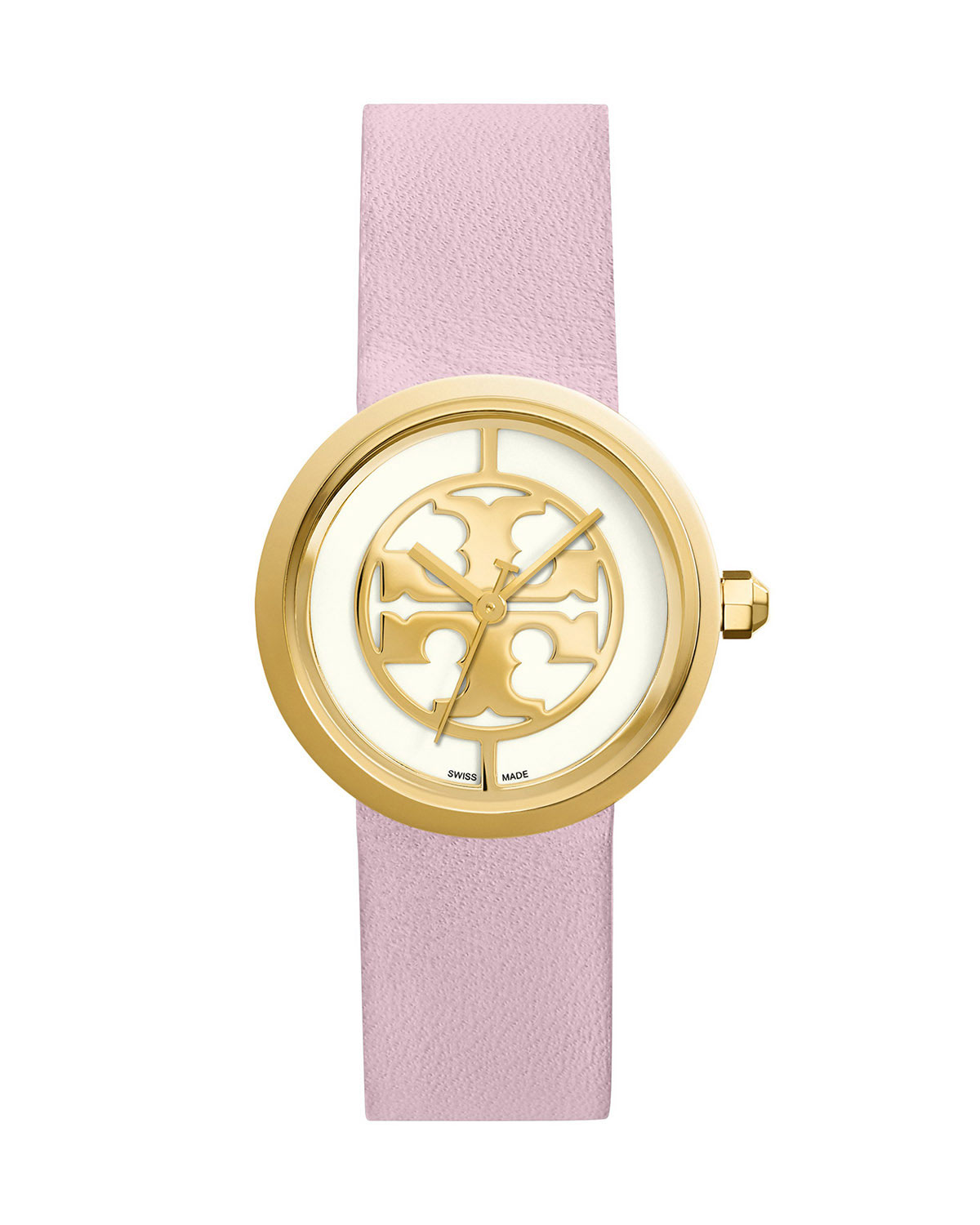 Tory Burch Reva Stainless Steel Watch, Light Pink