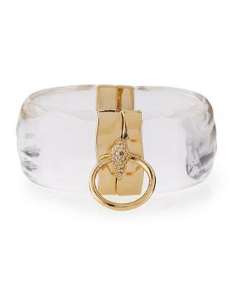 Swarovski® Crystal & Lucite Door-Knocker Bangle Bracelet