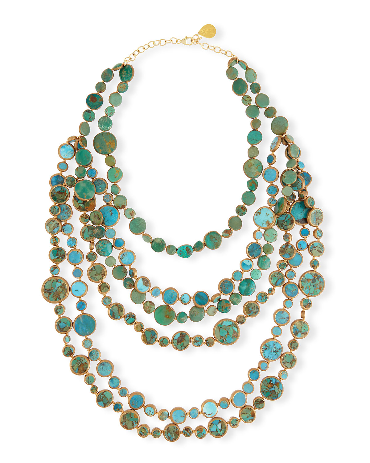 Turquoise Multi-Strand Necklace - Devon Leigh