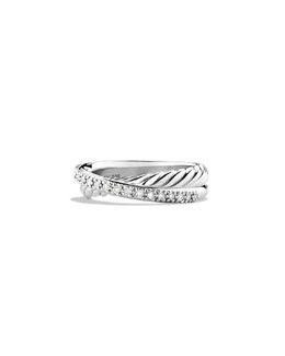 David Yurman Pavé Diamond Crossover Ring