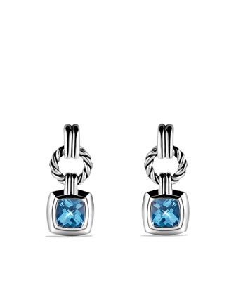 Renaissance Drop Earrings with Blue Topaz