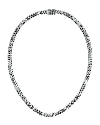Extra-Small Woven Chain Necklace, 18