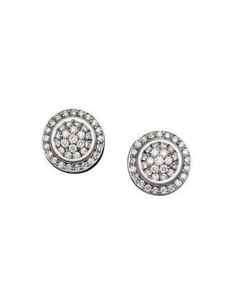 Cerise Earrings with Diamonds