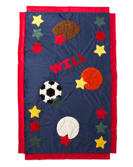 Boogie Baby Personalized Sports Blanket