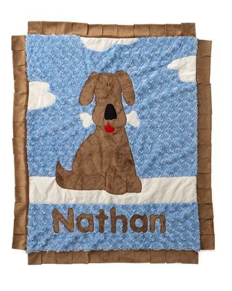 Personalized Good Puppy Blanket, Boy