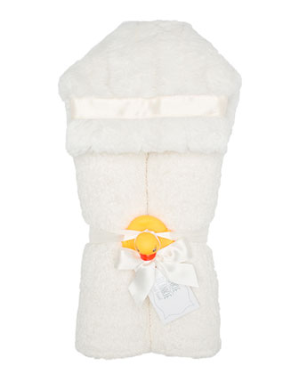 Plush Hooded Towel, Plain