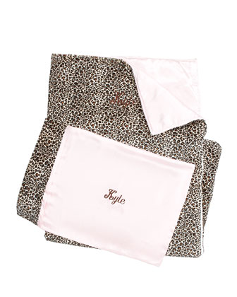 Cheetah-Printed Nap Mat & Pillow