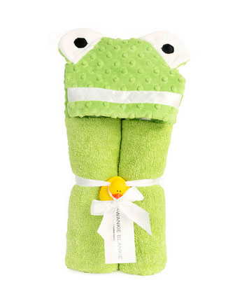 Personalized Hooded Frog Towel