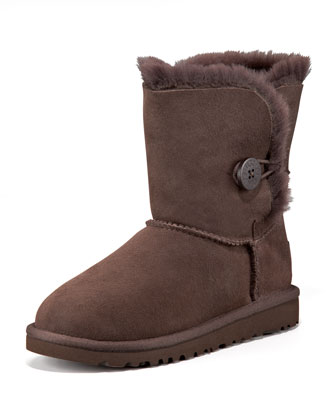 Chocolate Short Bailey Button Boot, Youth