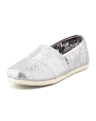 Swirl-Print Glitter Slip-On, Youth