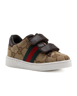 Gucci Ace Double GG Sneaker, Toddler