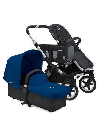 Donkey Stroller & Tailored Fabric Set, Royal Blue