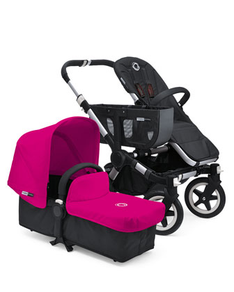Donkey Stroller & Tailored Fabric Set, Pink