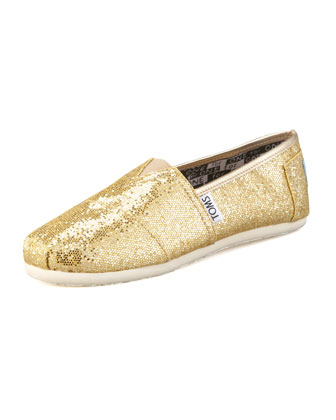 Gold Glitter Shoe, Youth