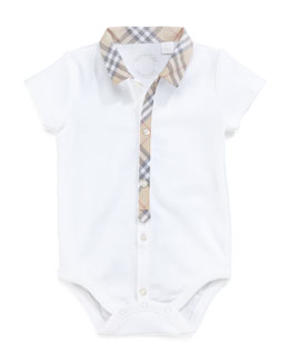 Burberry Check-Trim Bodysuit