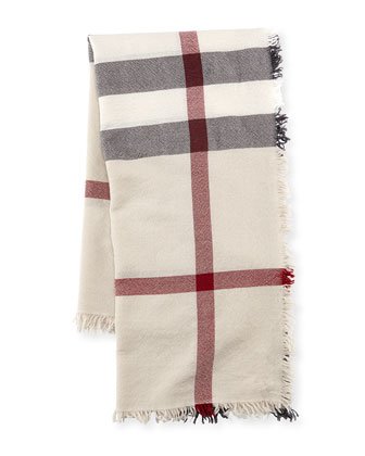 Boiled Tumble Check Square Scarf