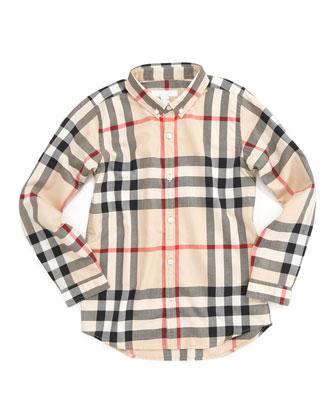 Mini Fred New Classic Check Shirt