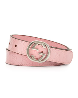 Gucci Micro Guccissima Leather Belt