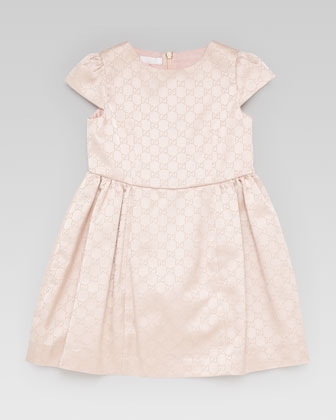 GG Jacquard Satin Dress
