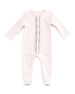 Burberry Check-Trim Sleepsuit
