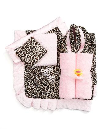 Cheetah-Print Receiving Blanket, Plain