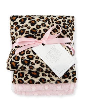 Cheetah Burp Cloth Set, Plain