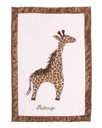Giraffe Toddler Blanket, Plain