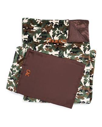 Camouflage Sleeping Bag & Pillow