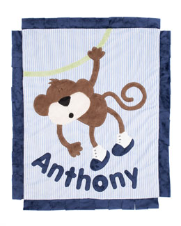 Boogie Baby Blue Hanging Around Blanket, Personalized