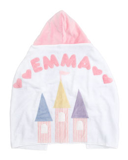 Boogie Baby Fairy Tale Castle Hooded Towel, Personalized