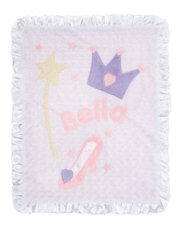 Boogie Baby Crown Blanket, Personalized