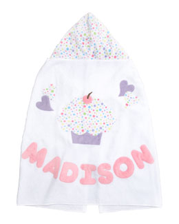 Boogie Baby Cupcake Hooded Towel, Personalized