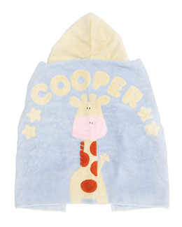 Boogie Baby Jungle Rumble Hooded Towel, Plain